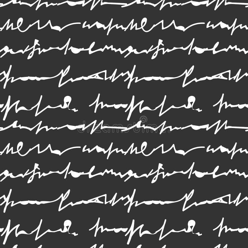 Письмо нарисованное рукой на картине черной предпосылки безшовной бесплатная иллюстрация