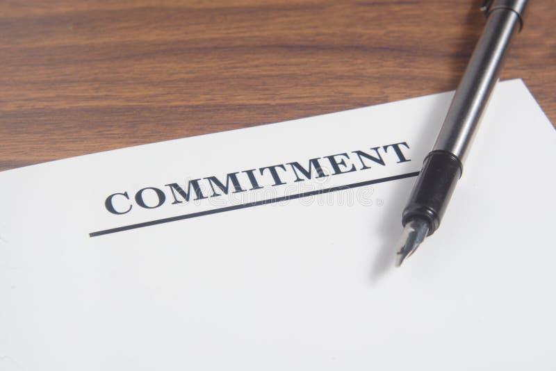 Письмо обязательства стоковое фото rf