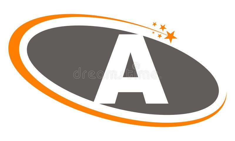 Письмо a логотипа иллюстрация вектора