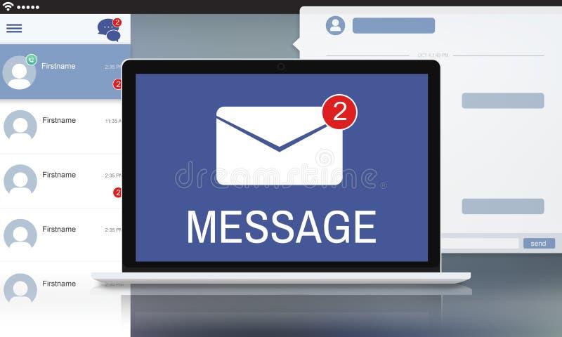 Письмо охватывает концепцию уведомления сообщения иллюстрация вектора