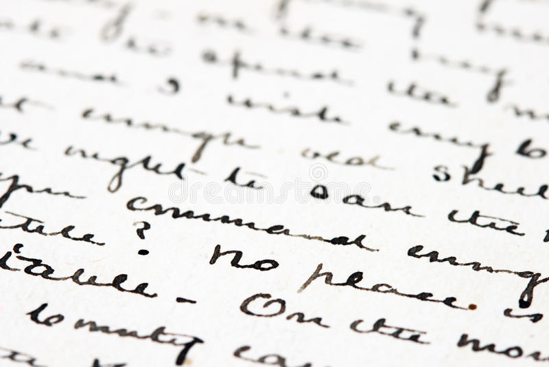 письмо чернил старое стоковое фото rf