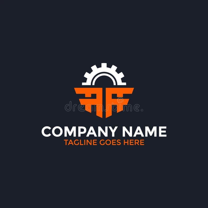 Письмо шестерни логотип иллюстрация штока