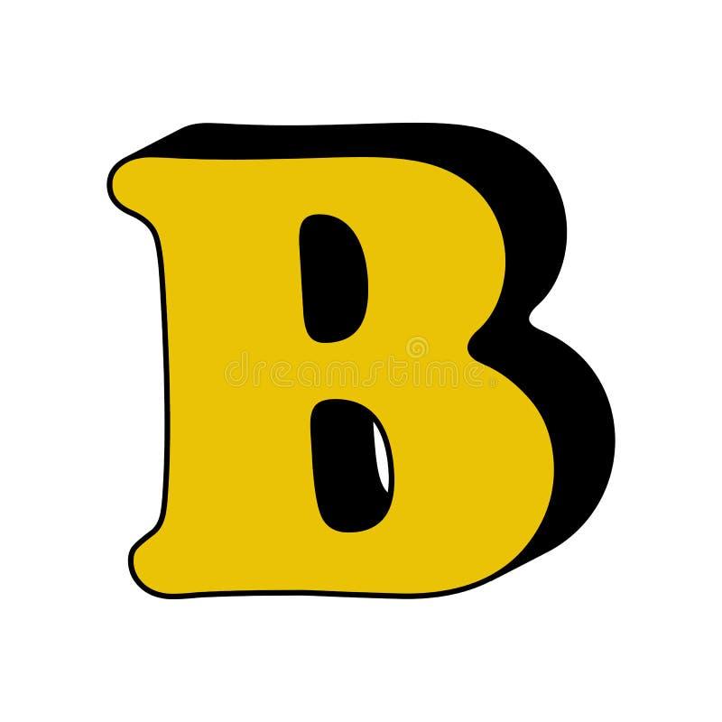 письмо b, алфавит, значок 3D Элемент алфавита цвета 3D для мобильных приложений концепции и сети Детализированное письмо b, алфав иллюстрация штока