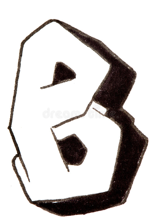 письмо W алфавит в стиле граффити стоковые фото Download