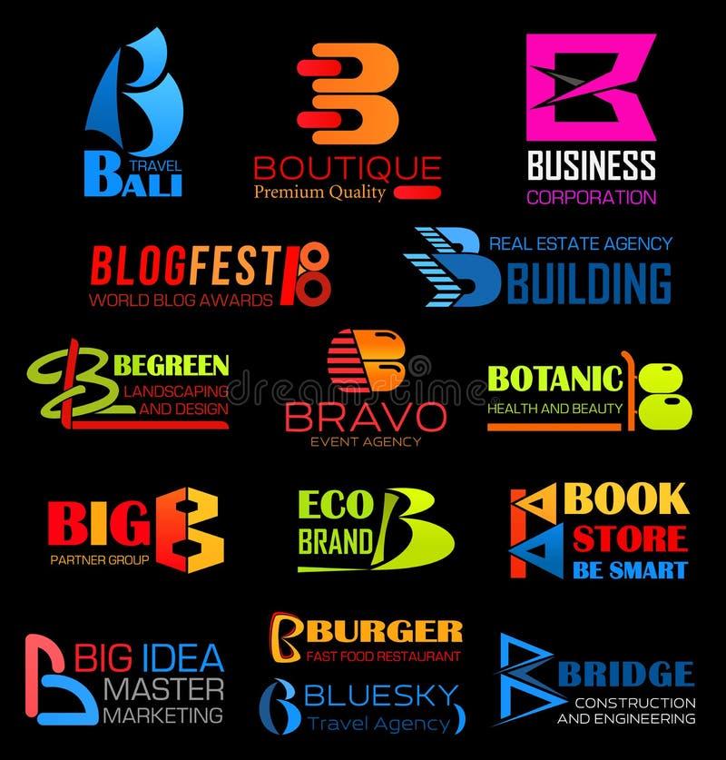 Письмо b вектора, компания или образ бренда бесплатная иллюстрация