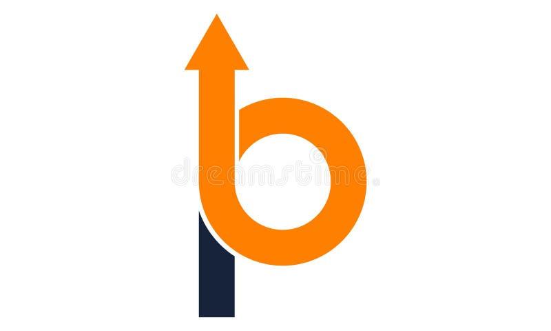 Письмо b p вверх по стрелке иллюстрация вектора