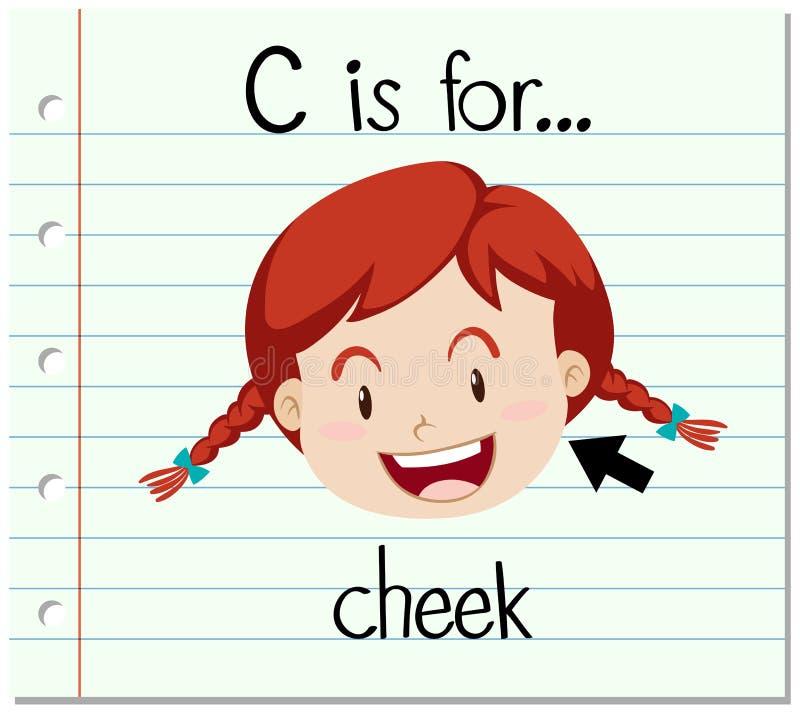 Письмо c Flashcard для щеки иллюстрация вектора
