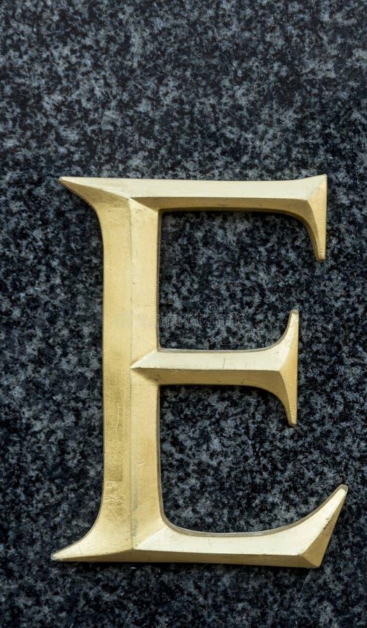 Письмо e стоковое изображение