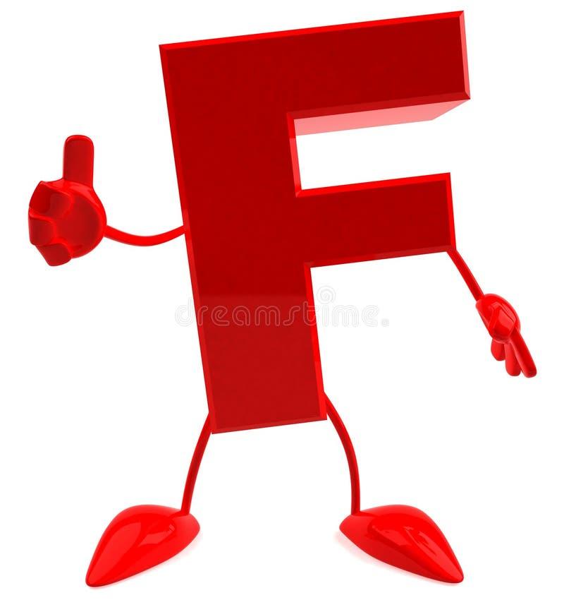 письмо f иллюстрация вектора