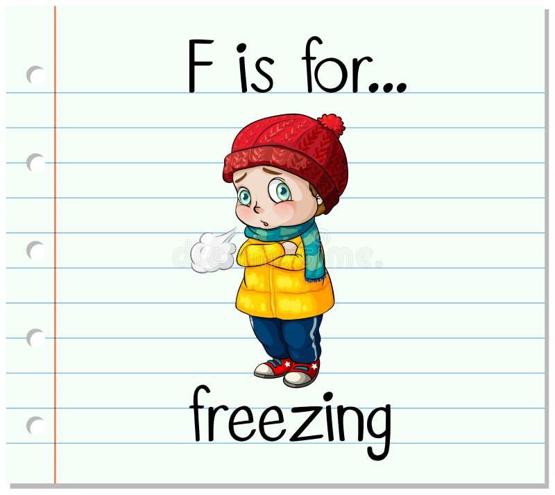 Письмо f Flashcard для замерзать бесплатная иллюстрация