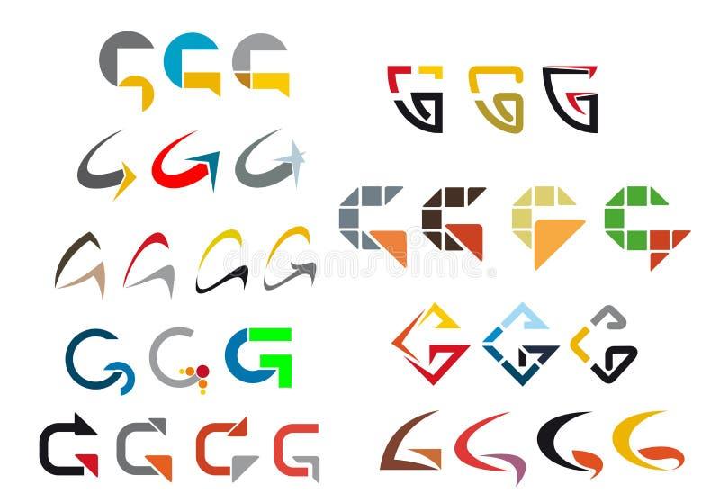 письмо g алфавита иллюстрация вектора