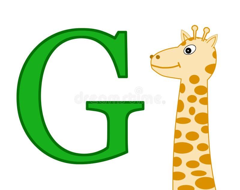 письмо g иллюстрация штока