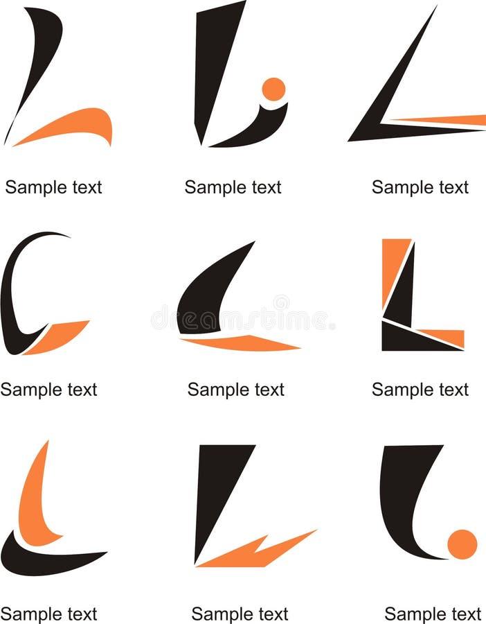 Письмо l логотип иллюстрация вектора