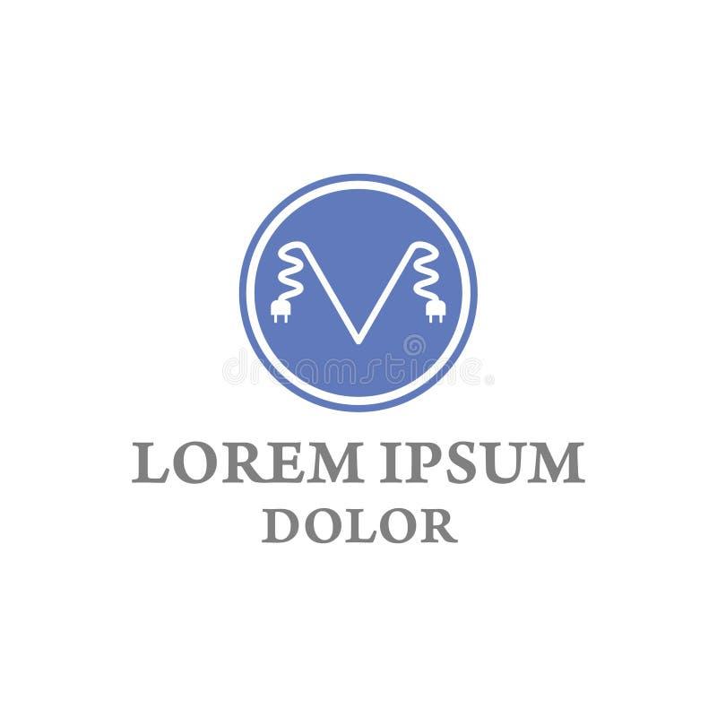 Письмо m иллюстрации вектора электрическое и дизайн логотипа значка круга бесплатная иллюстрация