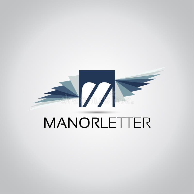Письмо m подгоняет логотип бесплатная иллюстрация