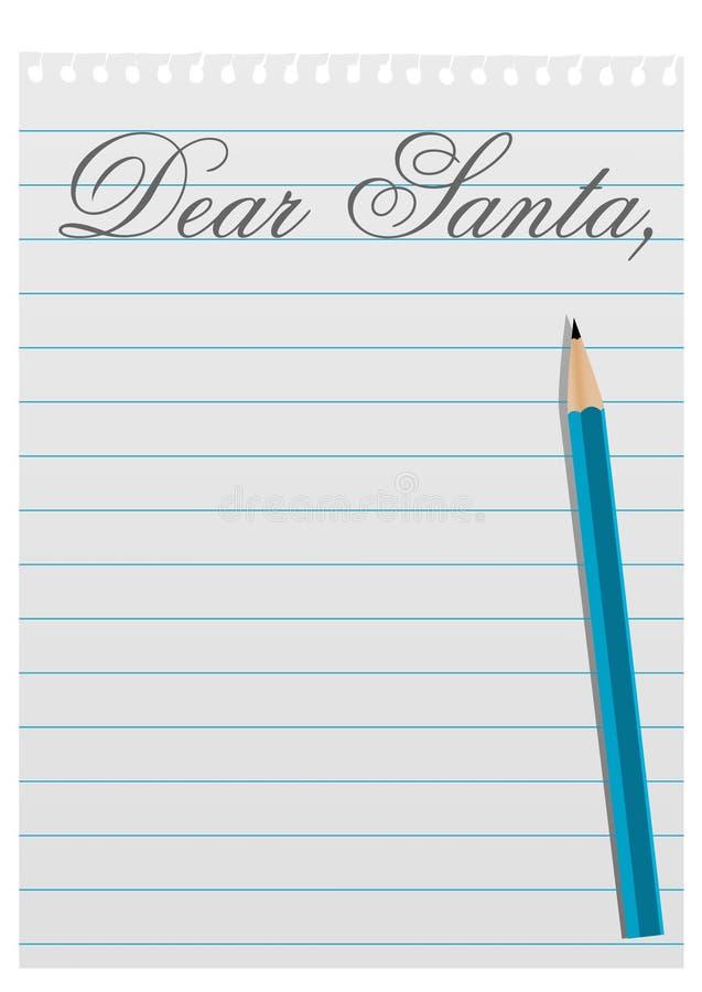 письмо santa иллюстрации claus к иллюстрация вектора