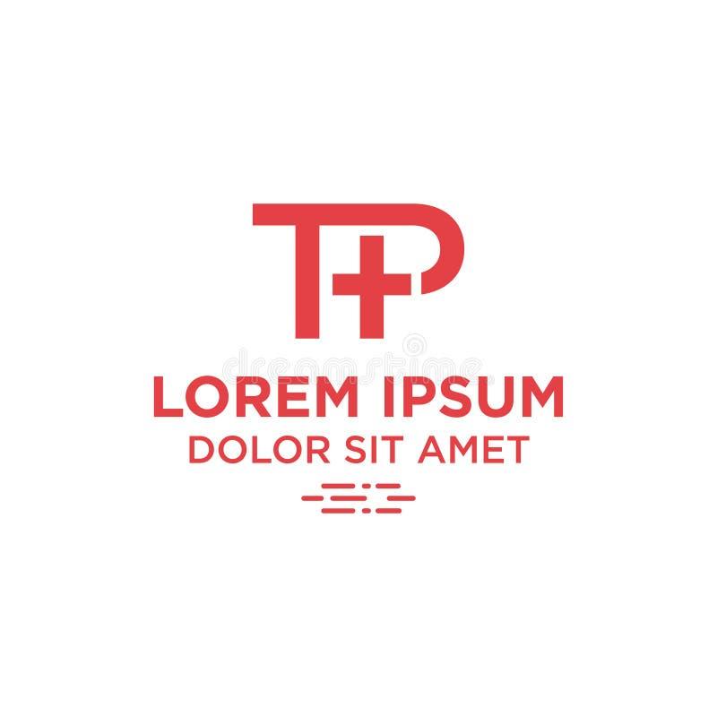 Письмо t p иллюстрации вектора и добавочный дизайн логотипа значка символа иллюстрация штока