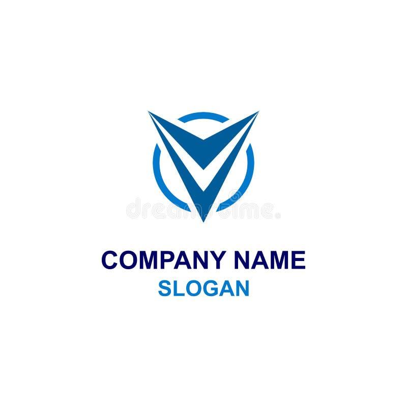 Письмо v в логотипе инициала круга бесплатная иллюстрация