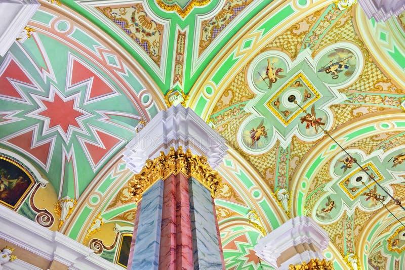 Питер и крепость Паыля. Нутряно. St-Петербург. стоковое фото