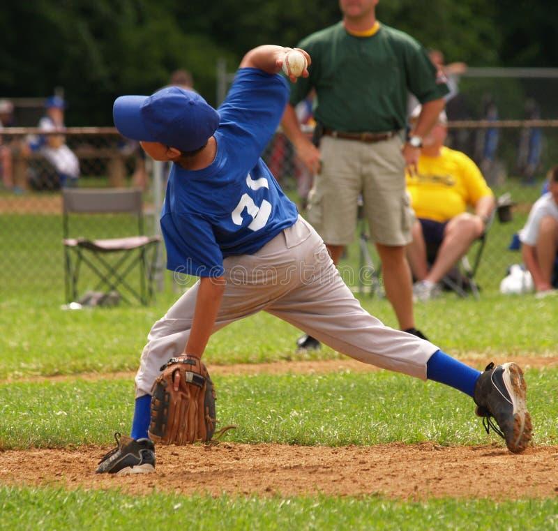 питчер лиги бейсбола маленький стоковые фото