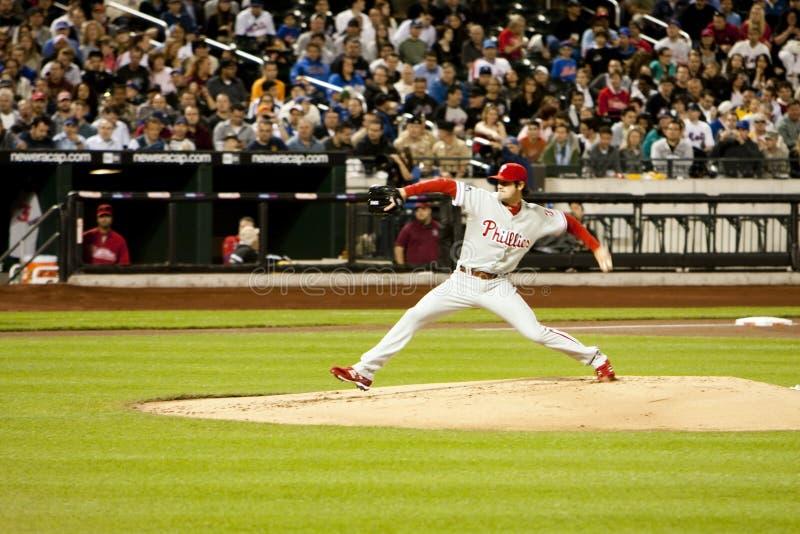 питчер phillies hamels cole бейсбола стоковая фотография