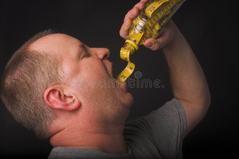 Питье диетпитания стоковая фотография rf