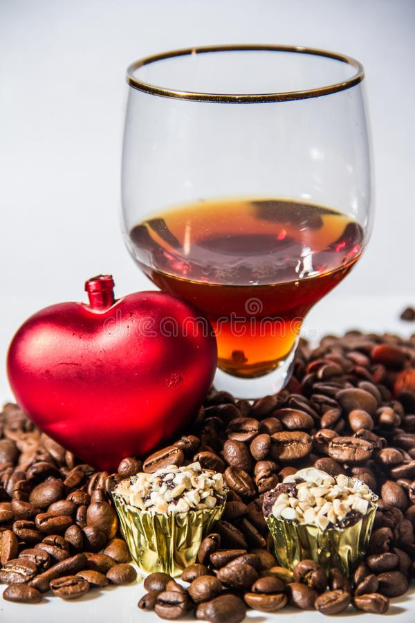 Питье зерен кофе стоковое фото