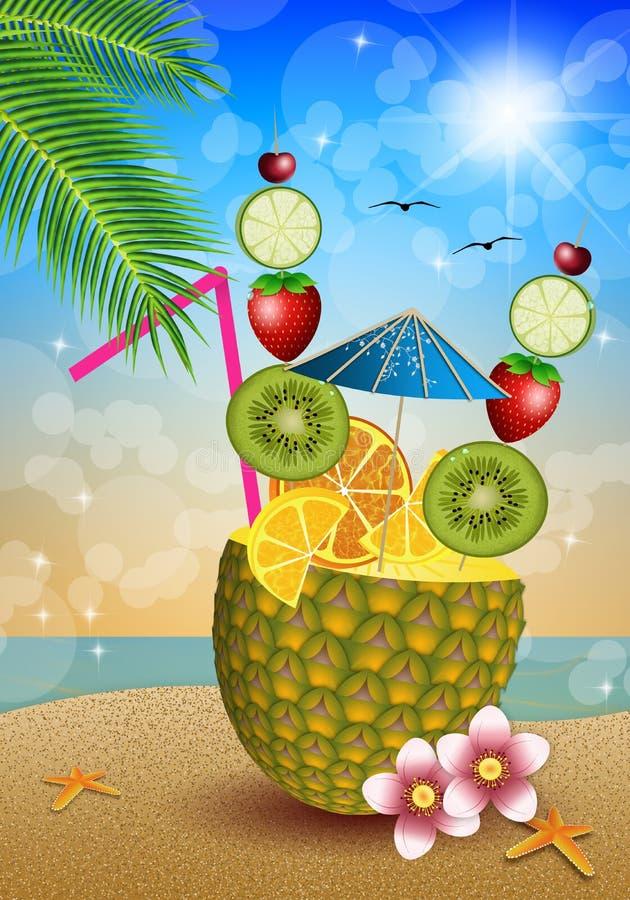 Питье приносить в ананасе бесплатная иллюстрация