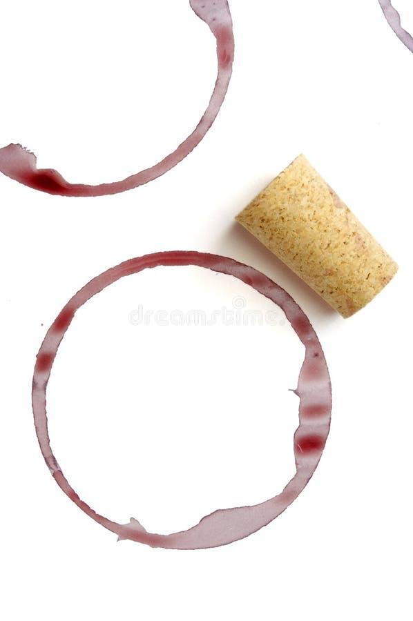 питье пробочки маркирует вино стоковые фотографии rf