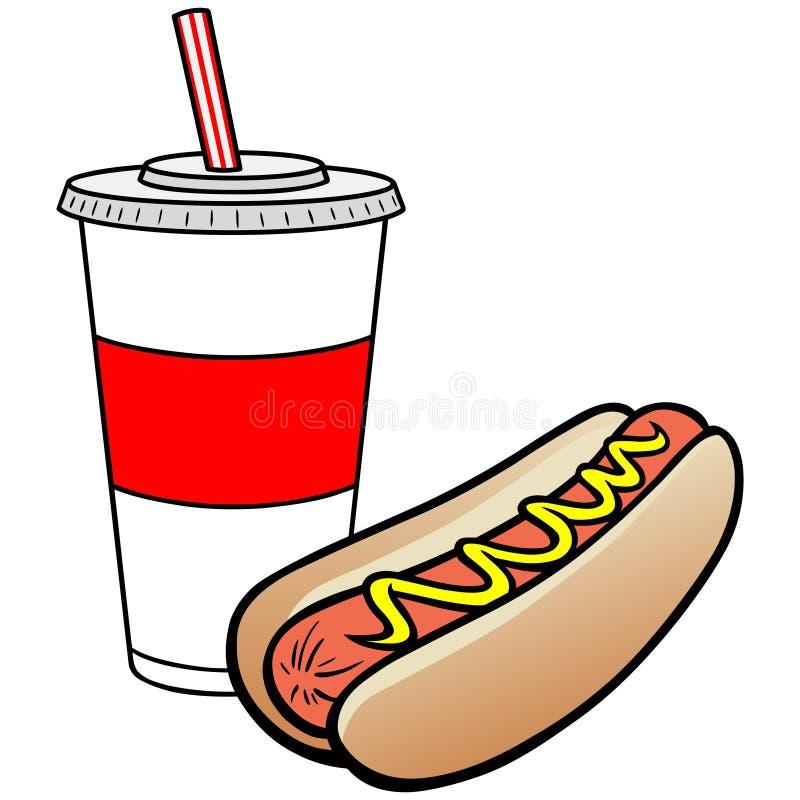 питье собаки горячее иллюстрация вектора