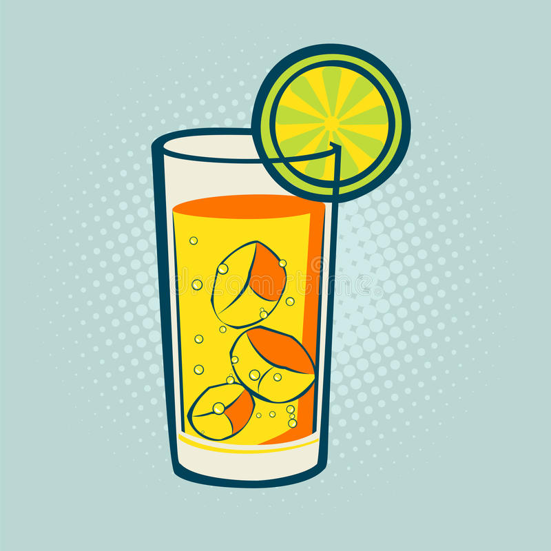 Питье с известкой и льдом бесплатная иллюстрация