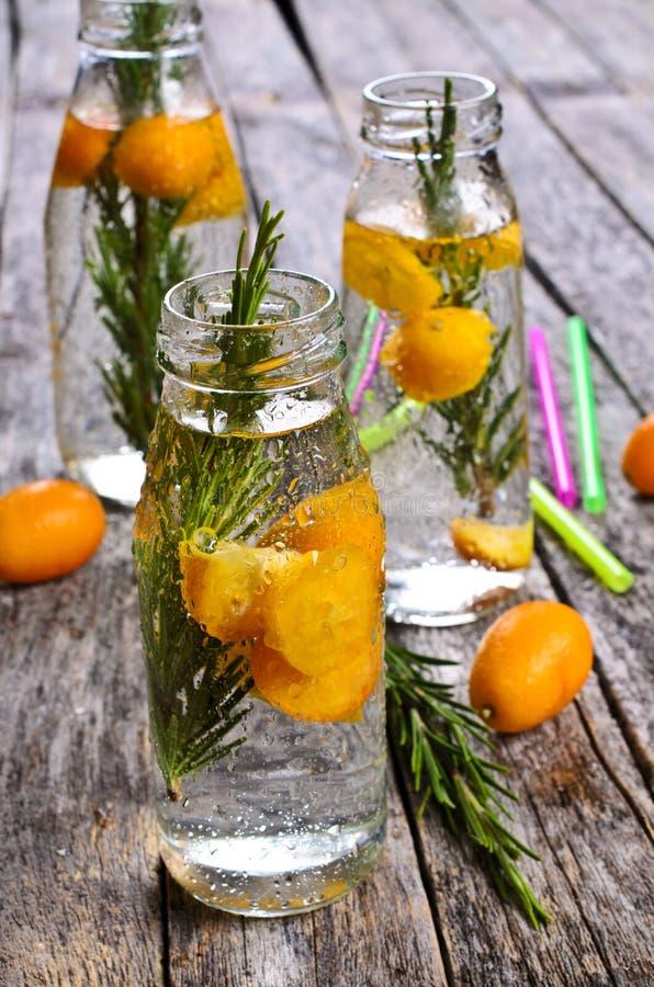 Питье с цитрусом и розмариновым маслом стоковая фотография