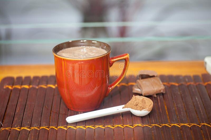 питье шоколада горячее стоковая фотография rf