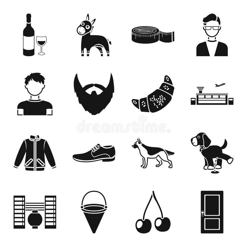 Питье, atelier, мода и другой значок сети в черном стиле иллюстрация вектора