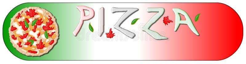 пицца знамени бесплатная иллюстрация