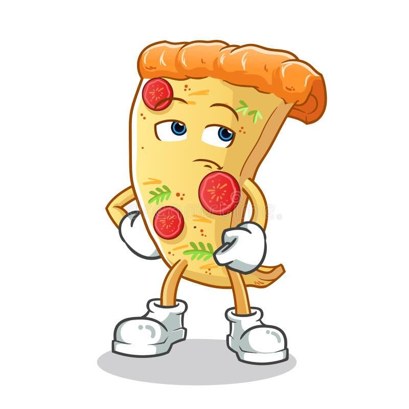 Пицца игнорирует иллюстрацию мультфильма вектора талисмана иллюстрация штока