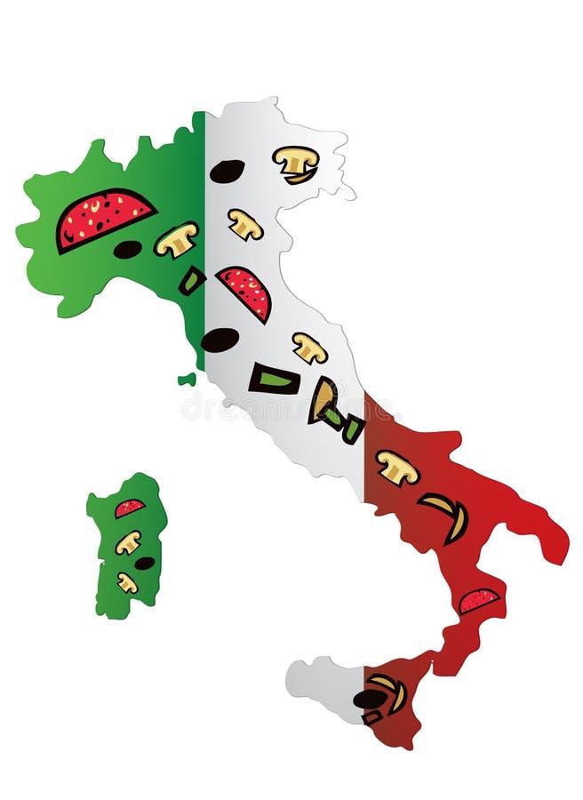 пицца Италии иллюстрация штока