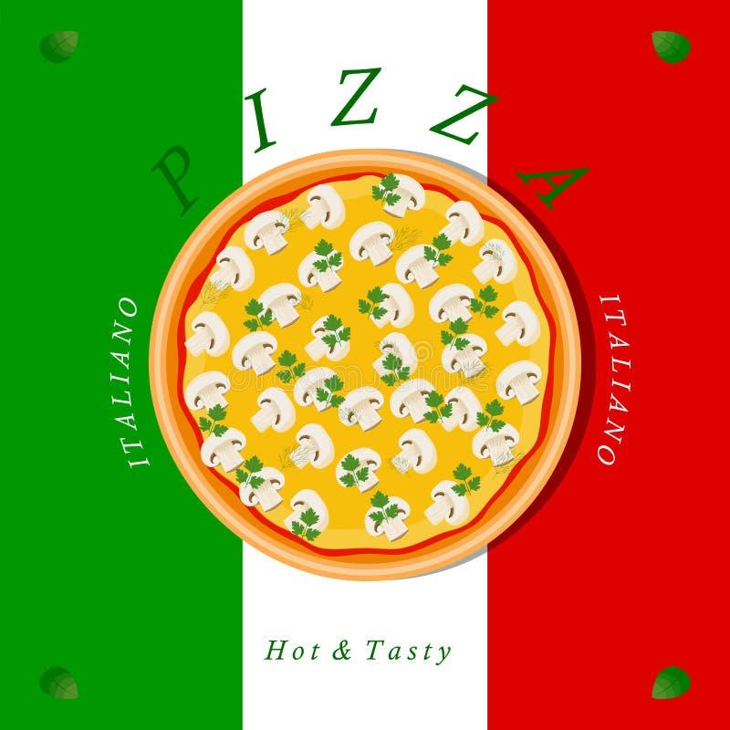 Пицца комплекта иллюстрация вектора