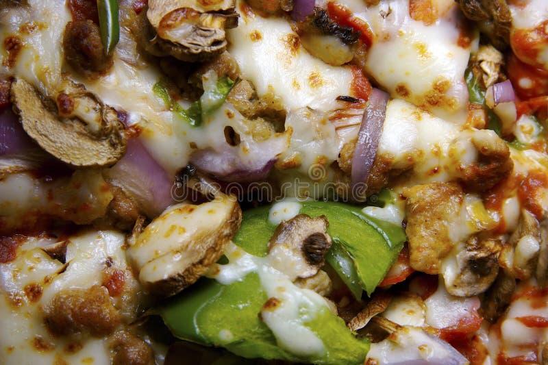 Download пицца предпосылки Everthing Стоковое Фото - изображение насчитывающей closeup, луки: 482546