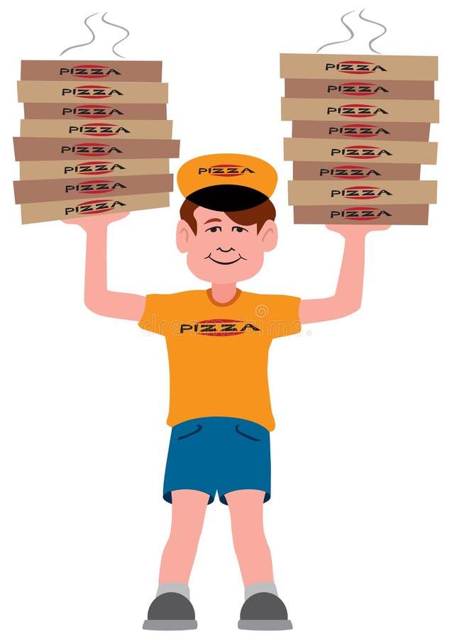 Пицца приезжала иллюстрация штока