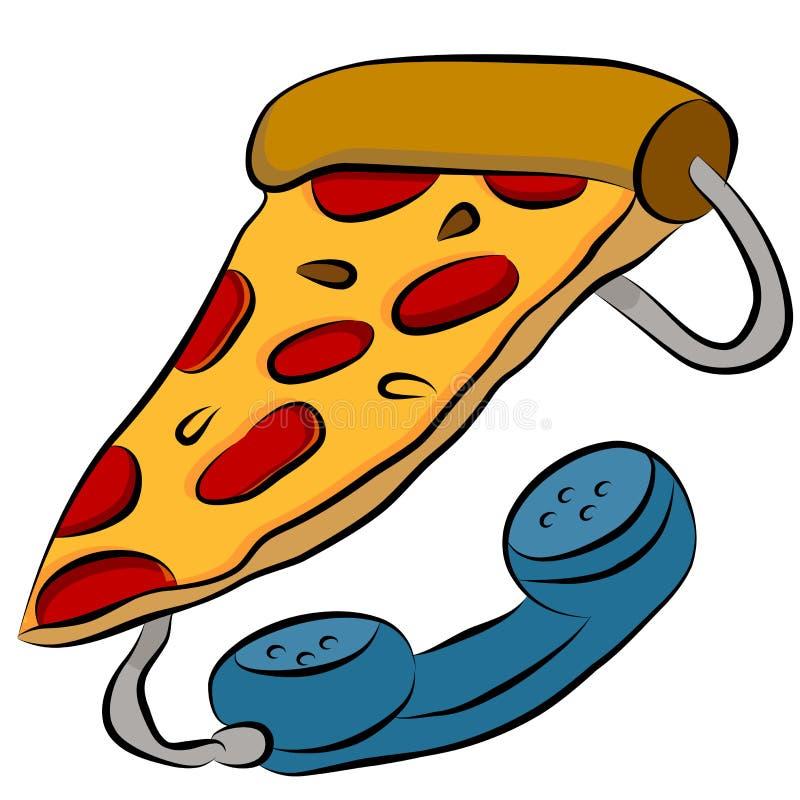 пицца телефона линии связи между главами правительств бесплатная иллюстрация
