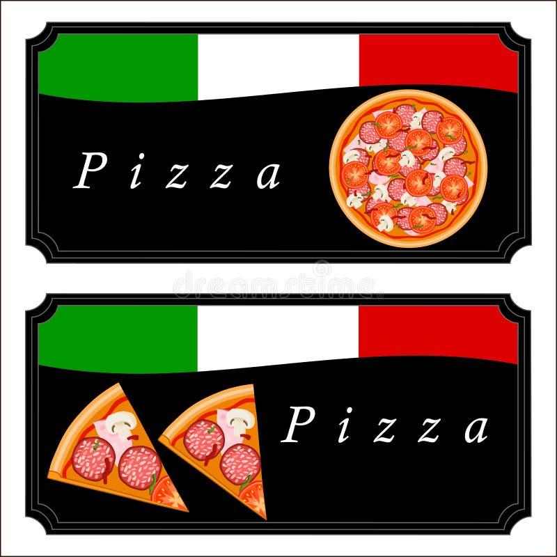 Пицца темы иллюстрация вектора