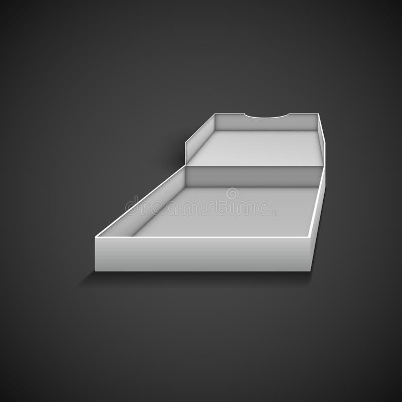 пицца упаковки коробки открытая иллюстрация вектора