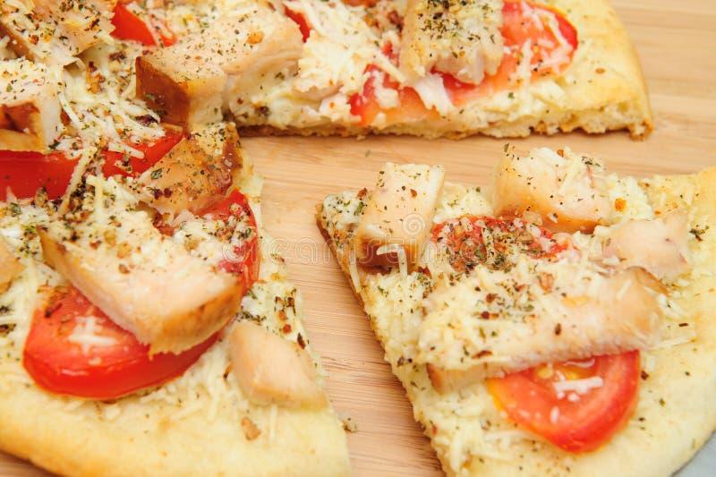 пицца цыпленка одного стоковое фото rf