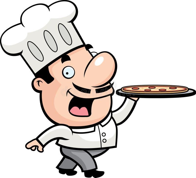 пицца шеф-повара иллюстрация штока