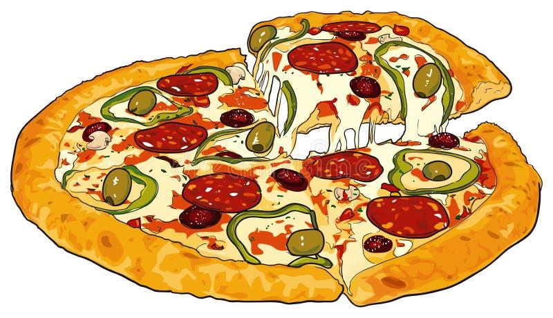 пицца иллюстрация штока