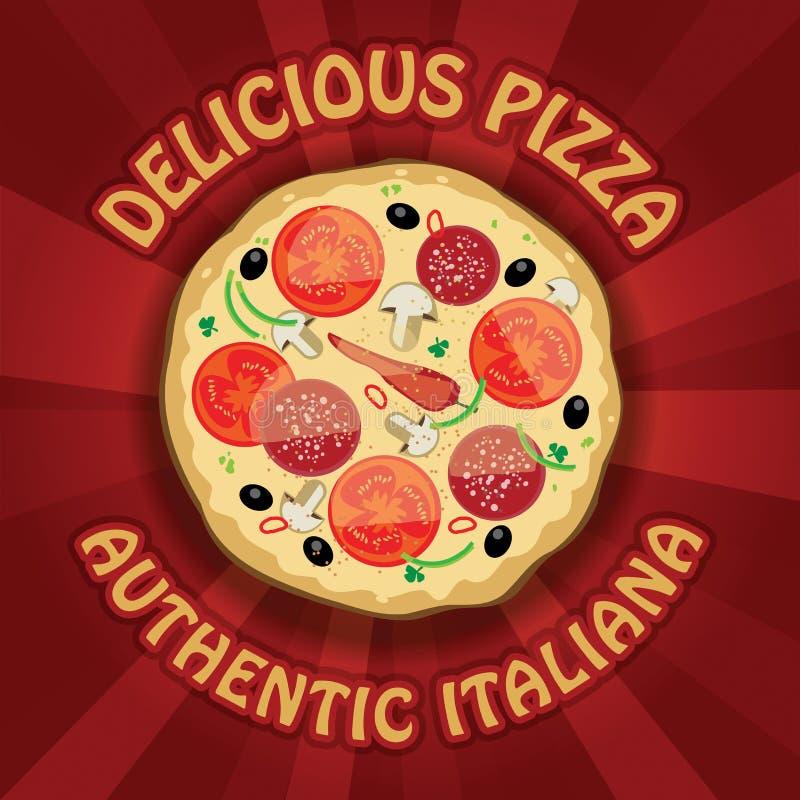 Download Пицца иллюстрация вектора. иллюстрации насчитывающей поставка - 33736445