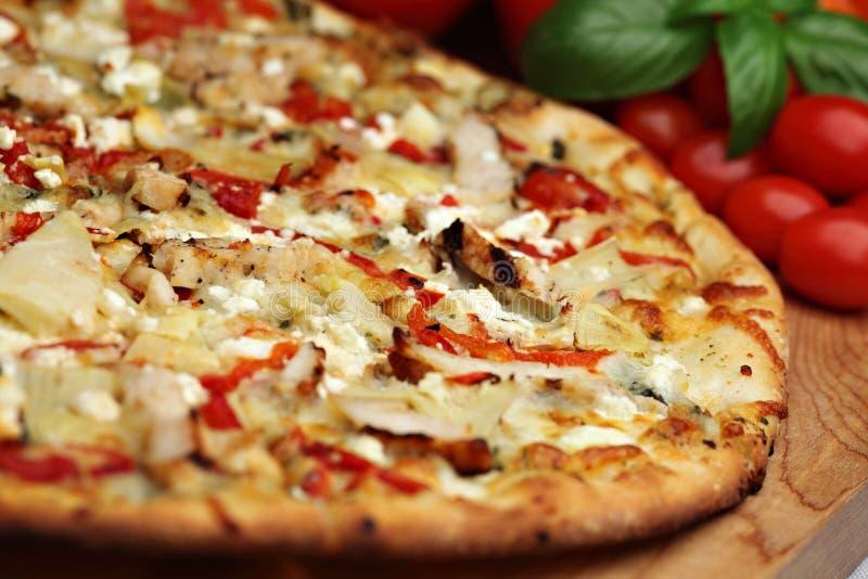 пицца tuscan pesto стоковое изображение