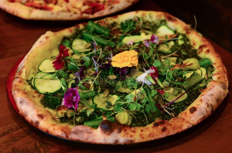 Пицца Vegan стоковые фотографии rf