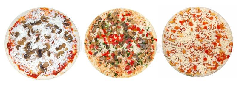 пиццы неподготовленные стоковая фотография rf